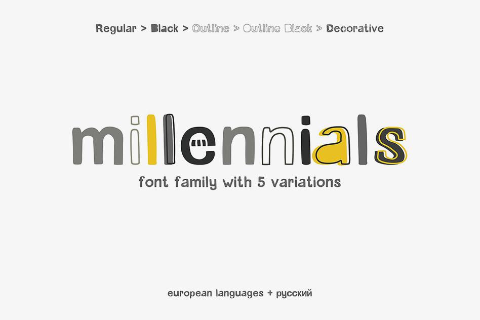 فونت Millennials