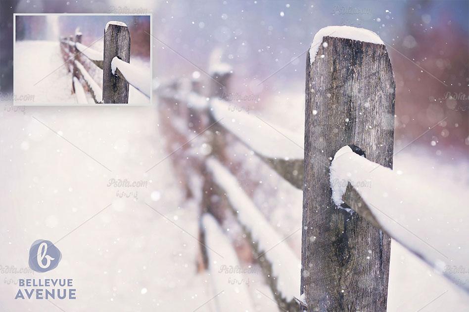 افکت بارش برف بر روی عکس و تصاویر در فتوشاپ