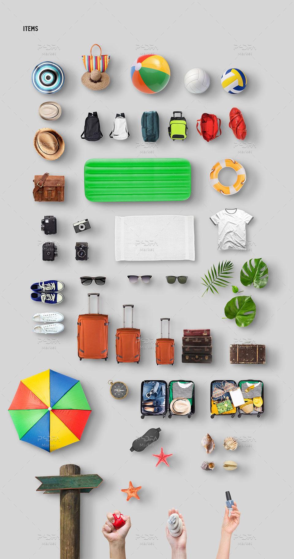 جعبه ابزار ساخت موکاپ بنر و صحنههای ساحلی و تابستانی